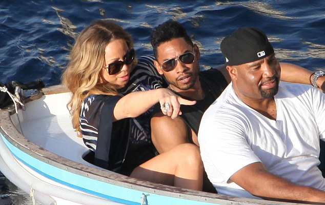 EXCLUSIVE: **NO WEB UNTIIl June 19th 12pm**Mariah Carey and Miguel Jontel Pimentel in the blue grotto