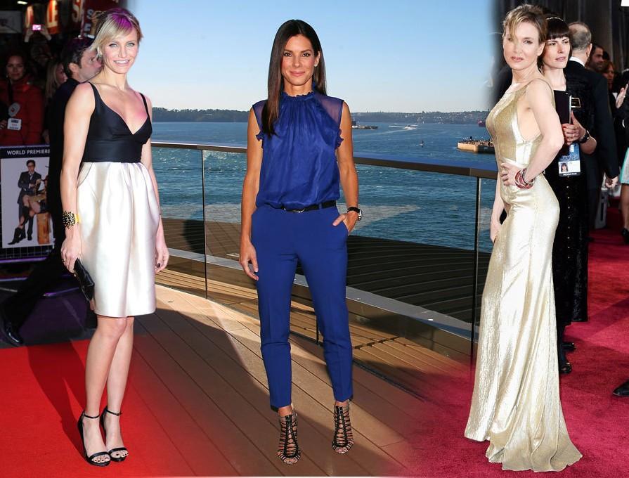 Cameron Diaz (40) Sandra Bullock (48): ve Renee Zellweger (44)