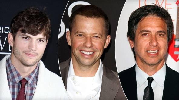 (Soldan sağa) Ashton Kutcher, Jon Cryer, Ray Romano