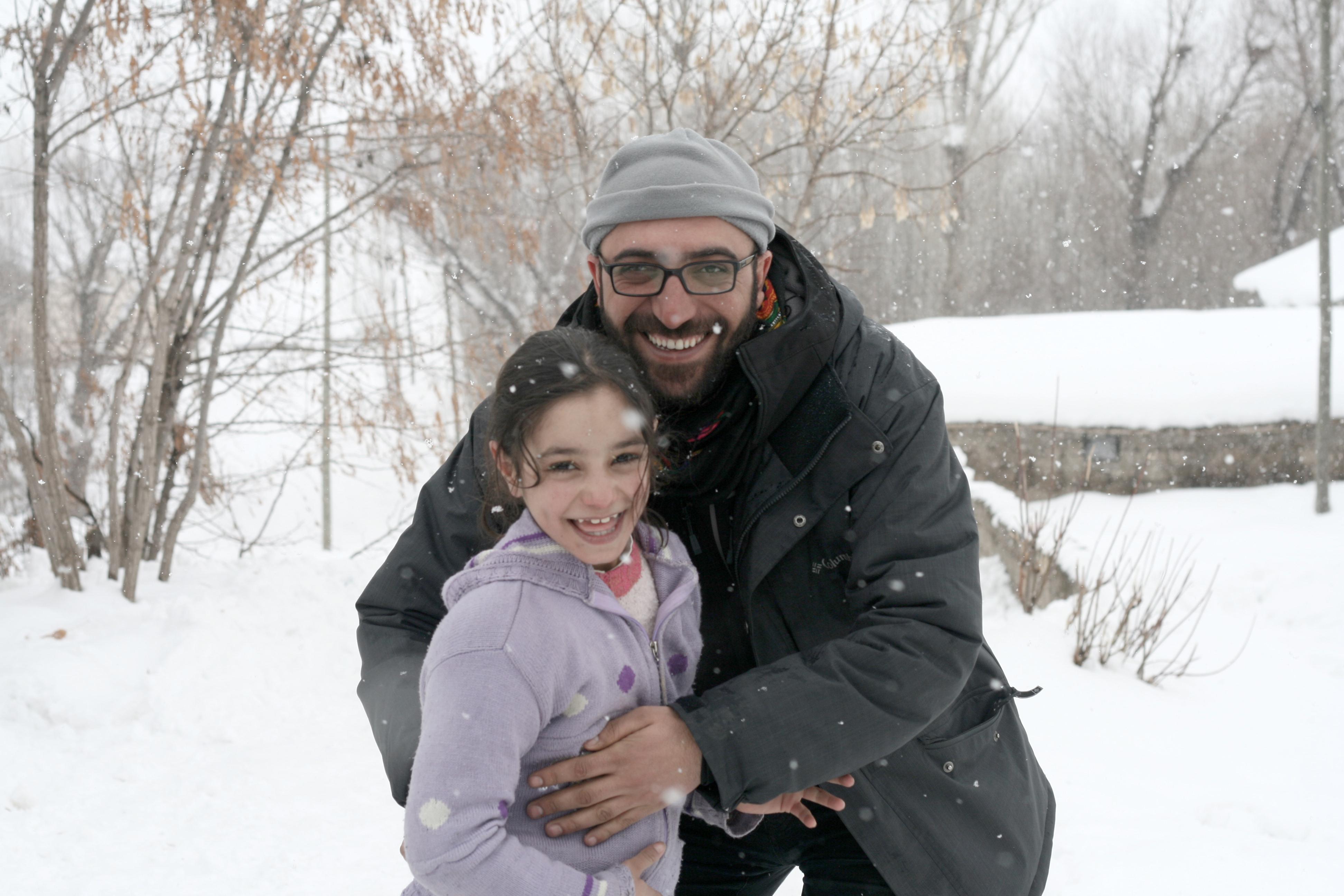 Yönetmen Ferit Karahan ve genç oyuncu Rojin Tekin