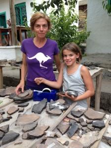 Doç. Francesca Muzzi ve kızı Alice işbaşında...
